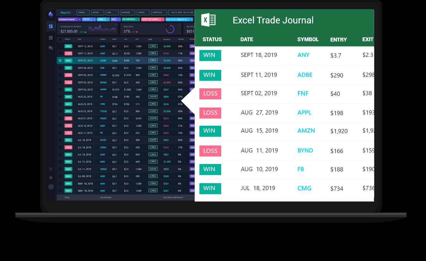 Spreadsheet Trading Journal